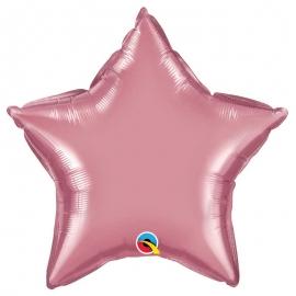 Ballon étoile 50cm chrome mauve