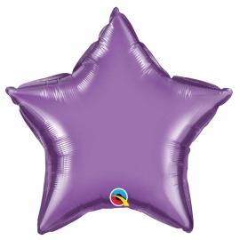 Ballon étoile 50cm chrome purple