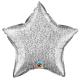 Ballon étoile 50cm chrome blue