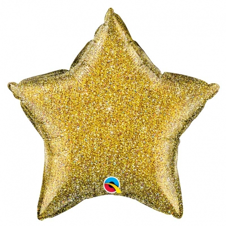 Ballon étoile 50cm glitter siver