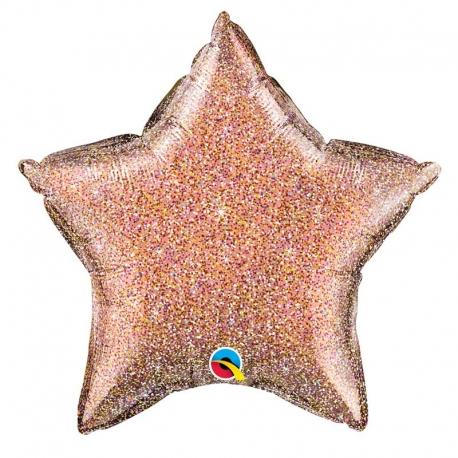 Ballon étoile 50cm glitter silver