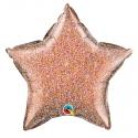 Ballon étoile 50cm glitter rose gold