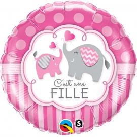Lettres ballon baby girl 118X24cm