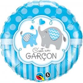 Ballon aluminium c'est une fille éléphant - 45cm