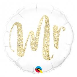 Ballon coeur 45cm love glitter