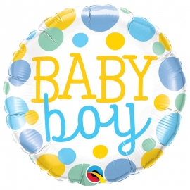 Ballon aluminium baby girl dots - 45cm