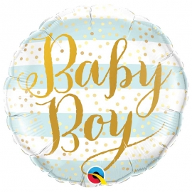 Ballon aluminium baby girl stripes - 45cm