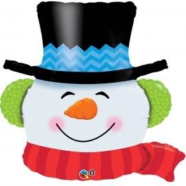 Ballon aluminium 91cm Smiling snowman