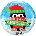 Ballon aluminium 45cm Merry christmas Penguin