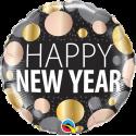 Ballon aluminium 45cm New year metallic dots