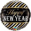 Ballon aluminium 45cm New year stripes