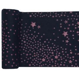Chemin de table  pluie d'étoiles pailletée bleu