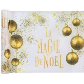 Chemin de table  La magie de Noël blanc