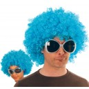 Perruque Afro turquoise
