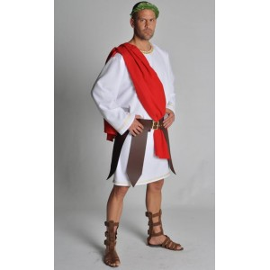 Location costume Grec blanc/rouge