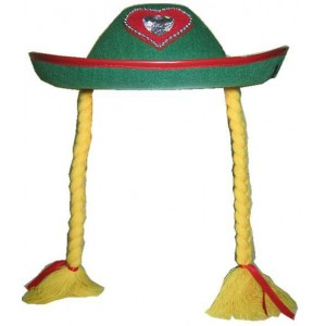 Chapeau tirolienne avec tresses