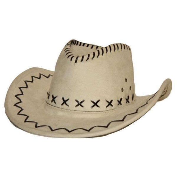 available reliable quality order online Chapeau cowboy simili cuir blanc