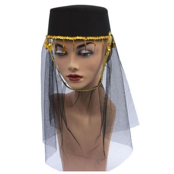 Chapeau dame harem noir