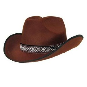 Cowboy feutre marron