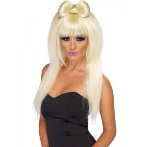 Perruque Lady Gaga avec noeud