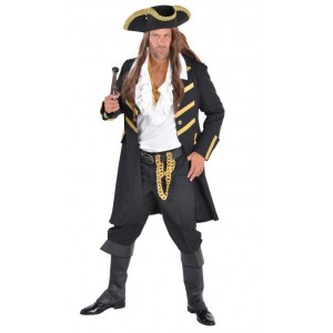 Pirate manteau long noir