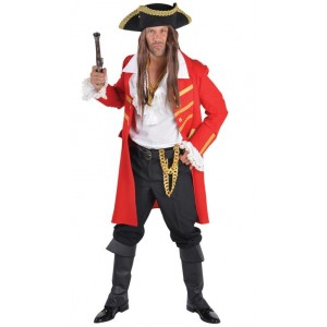 Pirate manteau long rouge