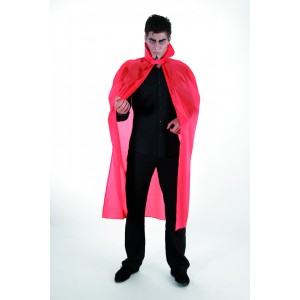 Cape Taffetas adulte 127cm rouge