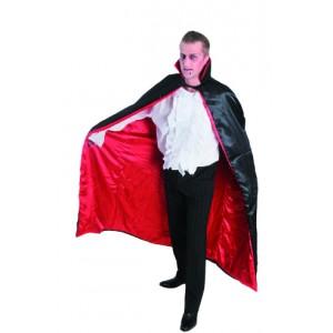 Cape Dracula adulte satin rouge et noire