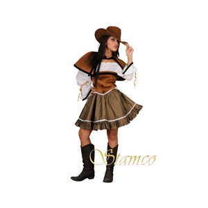 Location costume Cowgirl marron