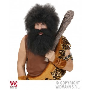 Moustache avec barbe primitif noire