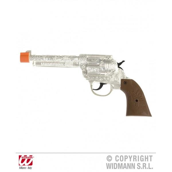 Pistolet cowboy argent