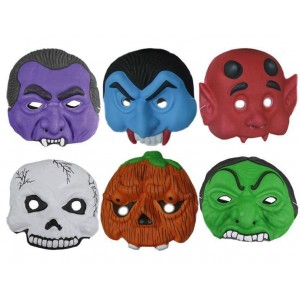 Lot de 6 masques halloween enfants