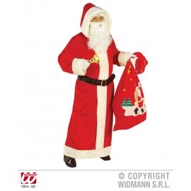 Deguisement Pere Noel européen velours luxe