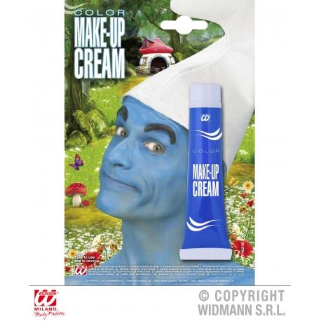 Maquillage en tube bleu
