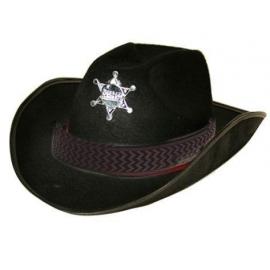 Chapeau sheriff noir