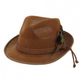 Chapeau tirol feutre marron