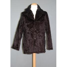 Manteau peluche noir