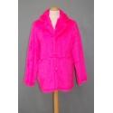 Manteau peluche neon rose