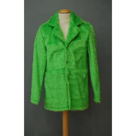 Manteau peluche vert