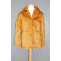 Manteau peluche beige