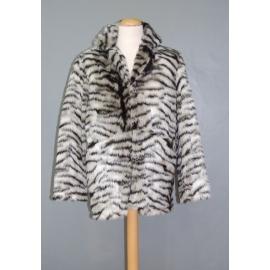 Manteau peluche tigre blanc