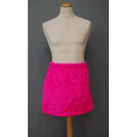 Jupe peluche néon rose