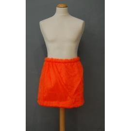 Jupe peluche orange
