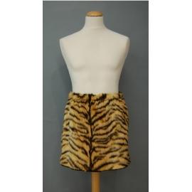 Jupe peluche tigre beige