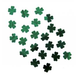 Confettis de table 1.5cm trèfles - sachet de 10gr