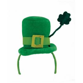 Serre tête mini chapeau St Patrick