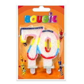 Bougies 70 ans
