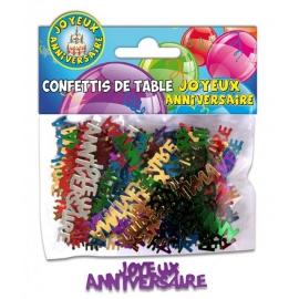 Confettis de table joyeux anniversaire