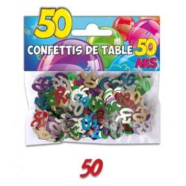 Confettis de table 50 ans