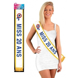 Echarpe Miss 20 ans bleue